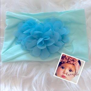 3/$10🎈Aqua Blue Floral Head Wrap Headband